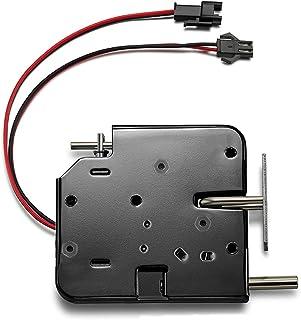 Elektrisch slot DC 12 V elektromagnetische vergrendelingsdeur kast lade elektromagnetische vergrendeling met noodontgrende...