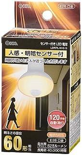 オーム電機 LED電球(60形相当/電球色/人感・明暗センサー付) LDR7L-W/S9