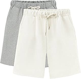Women's Casual Soft Knit Elastic Waist Jersey Bermuda Shorts with Drawstring