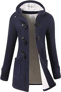 جاكيت على شكل معطف كلاسيكي للنساء من خليط من الصوف للشعور بالدفء بالخارج، عصري للشتاء من فوجري (الشحن عن طريق أمازون)