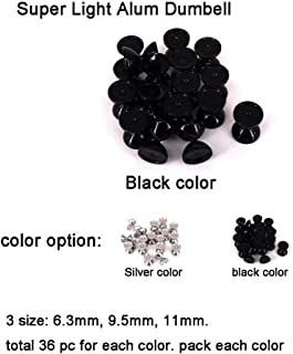 Aventik 36pcs Aluminum Dumbbell Fish Eyes Super Light Dumbbell Super Realistic Fly Tying Materials, Two Color Options, Easy to Use, Streamers, Crafts, Baitfish, Spinner Flies, Fresh water & Salt water …