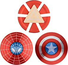 MAYBO SPORTS [3PACK] Wiitin Marvel The Avengers 2-Sided Fidget Spinner Made by Metal, Captain America Shield, Spiderman and Iron Man Arc Reactor, Super Hero Hand Spinner Toy