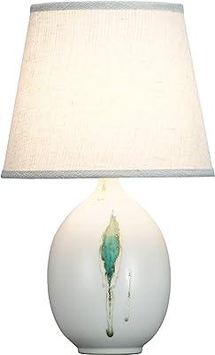 Fine Asianliving Lampe de Table Chinoise Lampes de Chevet Chinoise en Céramique Oriental Asiatique Jingdezhen Porcelaine Avec abat-jour E27 Oriental Mandarin Deco 221-170
