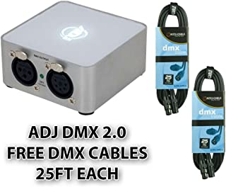 American DJ Supply MY DMX 2.0 Special Effects Lighting and Equipment + FREE (2) DMX cables 25ft each
