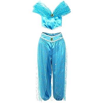 KIRALOVE Disfraz de Princesa jazmín - Bailarina Oriental ...