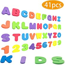 YANSION Magnetic Letters and Numbers for Kids Classroom Gift Set Refrigerator Magnet Educational Alphabet Toy Preschool Learning, Spelling Counting Games, Math Skills for Toddler(41pcs)