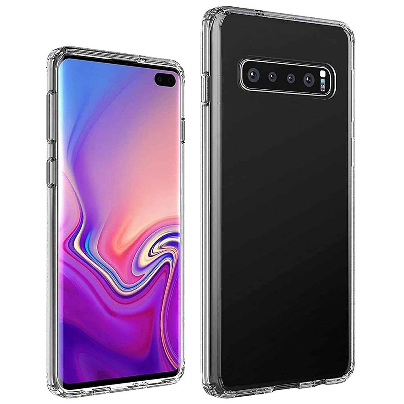 Starred Clear Silicone Case for Samsung Galaxy S10 Ultra Thin Slim Fit Protective Cover (Clear)