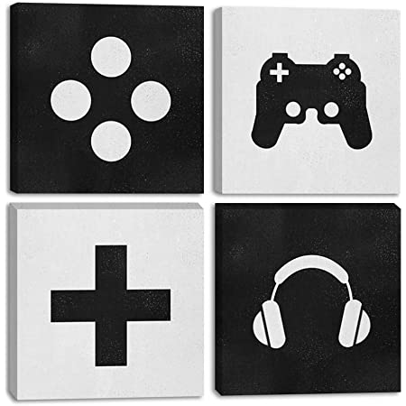 PENGDA Nordic Gaming Boys Wall Art Canvas Painting Pictures Video Game Geek Posters and Printed Hd Gamer Gift Gaming Room Decoration No Framed