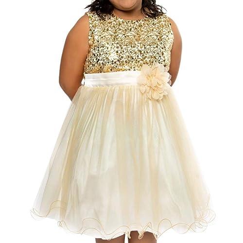 Gold Junior Bridesmaid Dress: Amazon.com