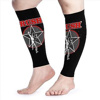 Calf Compression Sleeves Rush Red 2112 Starman Leg Support Socks for Women Men 1 Pair