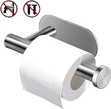Soporte de papel higiénico, 304 soporte de papel higiénico autoadhesivo Netspower sin perforación, soporte de papel de acero inoxidable, soporte de papel higiénico para cocina de baño, plateado