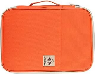 Yiherone Office Supplies Multi-Purpose Zipper Document Folder A4 Storage Bag (Black) New (Color : Orange)