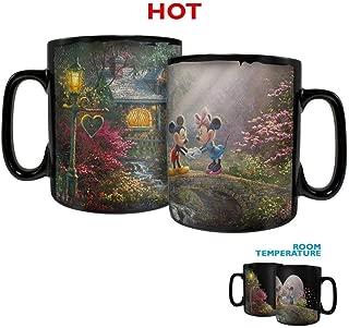 Disney – Mickey and Minnie Mouse – Sweetheart Bridge Morphing Mugs Heat Sensitive Clue Mug – Full image revealed when HOT liquid is added - 16oz Large Drinkware