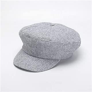 HongJie Hou Cap Korean Casual Versatile Beret Painter hat Octagonal hat Newspaper hat (Color : Grey)