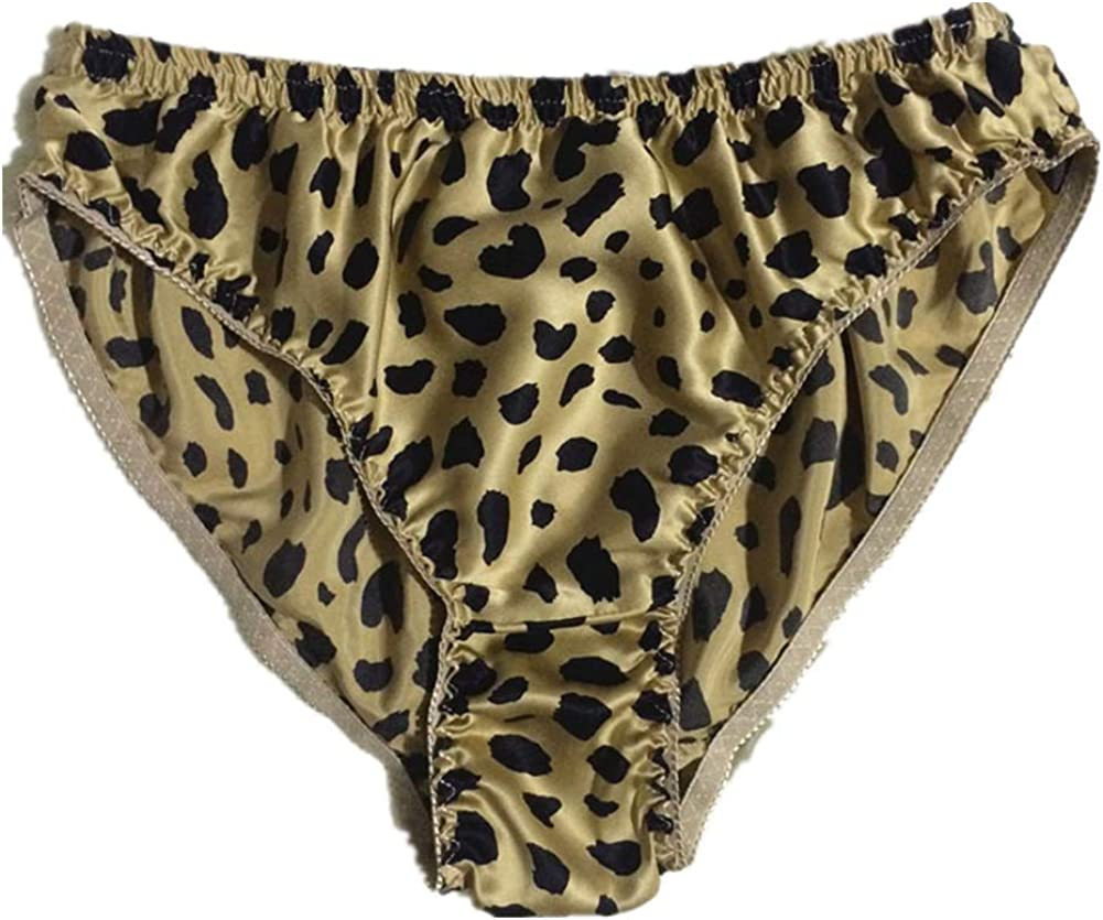 Mens Silk Panties Pure Silk Underwear 100% Mulberry Stretch Waist Basic Briefs Soft String Pants Large Bikini