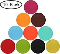 Silicone Drink Coasters - Set of 10, Coffee Mug Coasters for Office, Home, Coasters for Hot Pots and Pans, Anti-slip Cup Coasters Protect Furniture and Table from Water Marks and Scratch Damage.