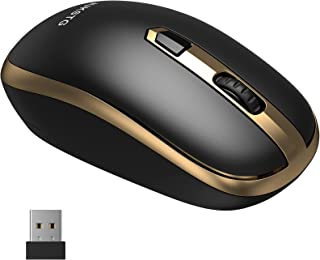 Wireless Mouse, JUKSTG 2.4G Portable Ergonomic Mouse with USB Nano Receiver, 3 Adjustable DPI Levels, Computer Cordless Mo...