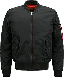 Men Heavy Flight Bomber Jacket Windbreaker Casual Baseball Coat