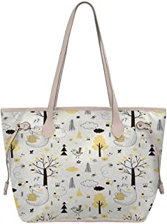 InterestPrint Women's Waterproof Shoulder Handbag Tote Bag