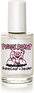Piggy Paint - 100% Non-toxic Girls Nail Polish, Safe, Chemical Free, Low Odor for Kids - 0.5 Fluid Ounce - Base Coat & Sealer