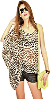 Hipster Ub2Clp-S Blouse Top For Women - S, Brown And Black
