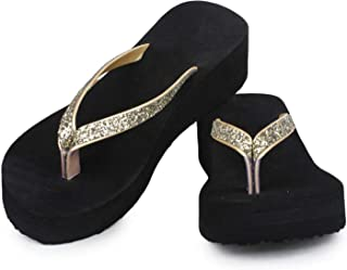 71614a3b3627f Amazon.in: Gold - Flip-Flops & Slippers / Women's Shoes: Shoes ...