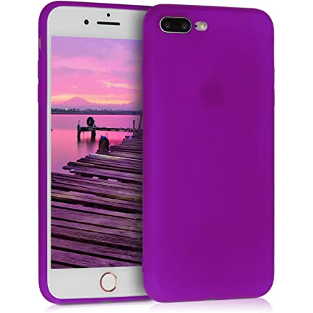 Protector Trasero en Lila Claro 8 Plus kwmobile Funda Compatible con Apple iPhone 7 Plus Carcasa de TPU Silicona