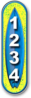 Surfboard, Vertical, Mailbox, House Address Plaque, Reflective