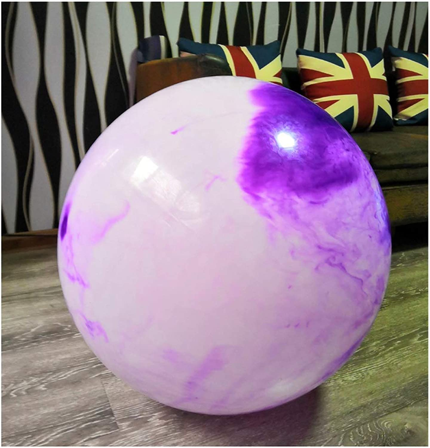 Exercise Ball (Multiple color) Yoga Ball Birthing Ball with Quick Pump AntiBurst & Extra Thick Heavy Duty Ball Chair Stability Ball Supports 200kg 55cm