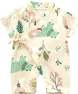 Kimono Newborn Cotton Yarn Robe Infant Baby Japanese Pajamas Romper Summer One Piece Jumpsuit Clothes