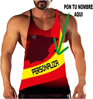 Camiseta Fitness para Personalizar de la selección Española ...