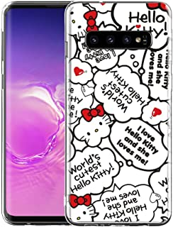 GSPSTORE for Samsung Galaxy S10 Plus Case Hello Kitty Cartoon Pattern Protector Shockproof Soft Flexible Silicone Cover for Samsung Galaxy S10 Plus