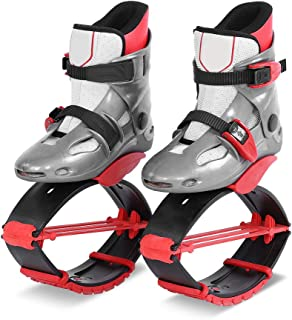 Zapatos para Saltar, Zapatos de Rebote Unisex Botas de Rebote para Dar Forma al Cuerpo para Hacer Ejercicio físico(36-38-Gris Rojo)