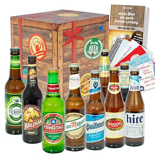 Männergeschenk/Geschenkset Bier aus aller Welt/Geschenk Geburtstag für Ihn