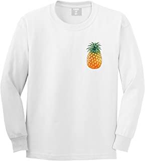 Pineapple Chest Logo Emoji Meme Mens Long Sleeve T-Shirt