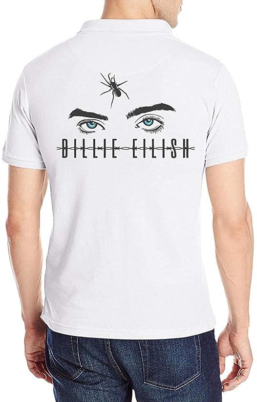 不忠農学協定ビリー?アイリッシュの目 ポロシャツメンズ半袖 モーション 花柄 通気性 贈り物 Tシャツ