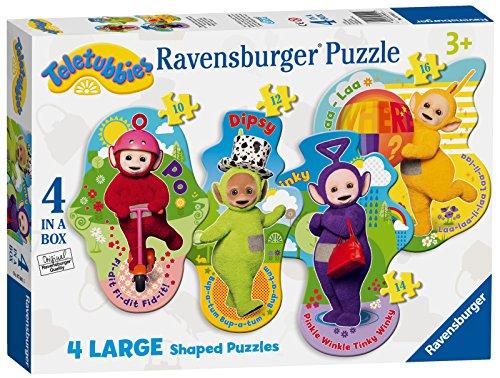 Ravensburger 7001 Teletubbies - Puzzles de 4 Formas (10, 12, 14, 16 Piezas)