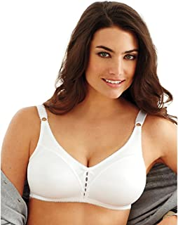 Double Support Wirefree Bra, White, 44D