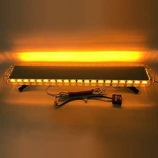 Szcafelimy 132 LED Amber light Source Car Roof Magnet Caution Light Strobe Light Roadblock Indicator light Emergency Warning LightBar