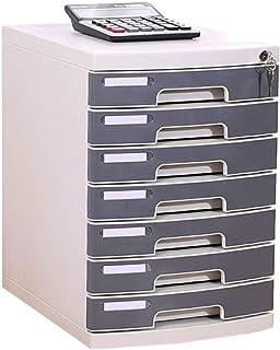 HongLianRiven Module Classement 7 tiroirs avec Organisateur d'armoire de Rangement en Plastique for classeurs - Gris 30.2X...