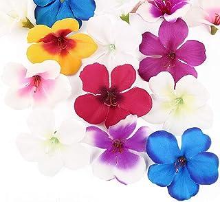 50pcs 4.5cm Fleurs d'Orchidée Artificielle Mini Tête de Fausse Fleur en Tissu Soie Accessoire de Décoration Scrapbooking D...