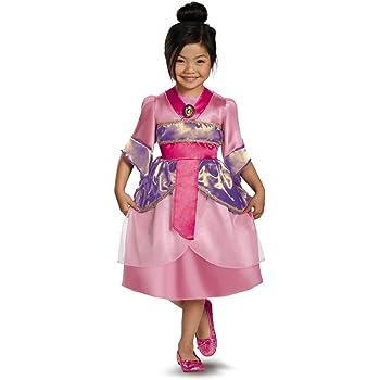 Amazon Com Relibeauty Big Girls Heroine Mulan Costume Three Piece Dress Up 10 Clothing