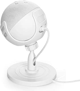 Esimen Table Holder Stand for Echo Dot 4th Generation, 360° Adjustable Stand Bracket Mount Space-Saving Dot Accessories No...