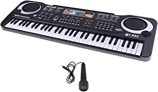 MagiDeal 61 Keys Electric Organ Keyboard Piano Mini Microphone Set Kids Musical Toy Play Activity