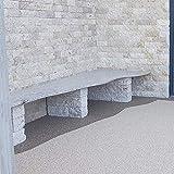 BEKATEQ BK-600EP Steinteppich Set - Grigio Bardiglio -25kg Marmorkies + 1,5kg Bindemittel - 4
