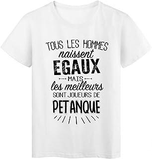 T-Shirt citation Tous les hommes naissent /égaux-Boulangers r/éf Tee shirt 2074