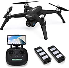 5G WiFi FPV Drone with 2K HD 90°Adjustable Camera Live Video,JJRC X5 36mins(18+18) Long Flight Time,GPS Return Home Quadcopter with Brushless Motor,Follow Me, Long Control Range(Black)