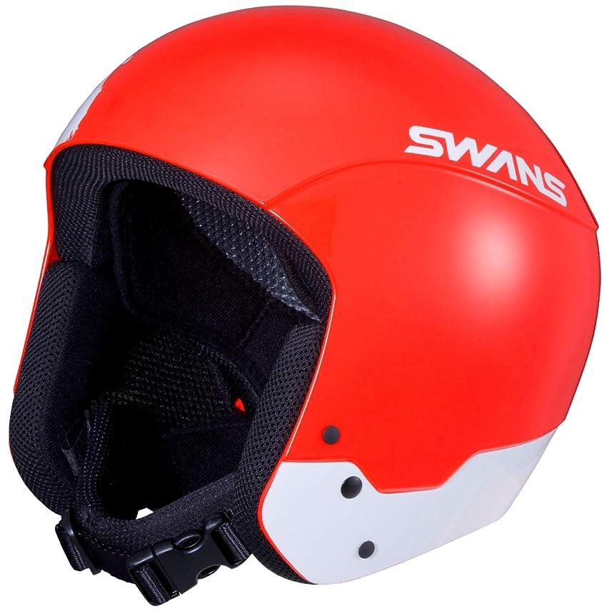 過敏な山積みの準備SWANS(スワンズ) スキー スノーボード ヘルメット 大人用 レーシング FIS認証 軽量FRPシェル  HSR-95FIS