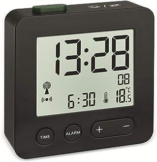 TFA Dostmann Reloj Despertador con Alarma y indicación de Temperatura, Negro, 62x22x68mm (60.2545.01)