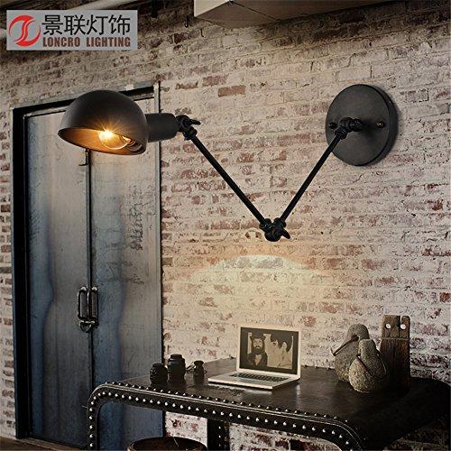 ShengYe Modern Vintage Wandlampen Wandleuchte Ausziehbare rocker Wandleuchte restaurant Schlafzimmer Bett Wandleuchte industrial Wind falten Maschinen doppel Quartal retro Wandleuchte
